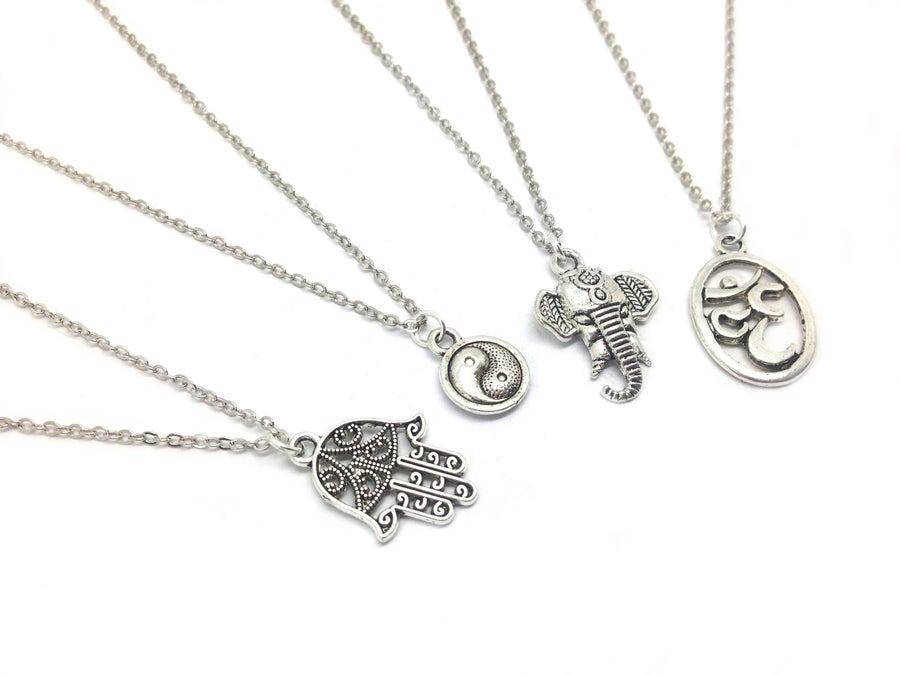 Image of Silver Charm Necklaces