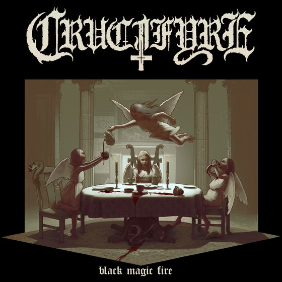 "Image of CRUCIFYRE ""Black Magic Fire"" Gatefold LP (Blue Vinyl)"
