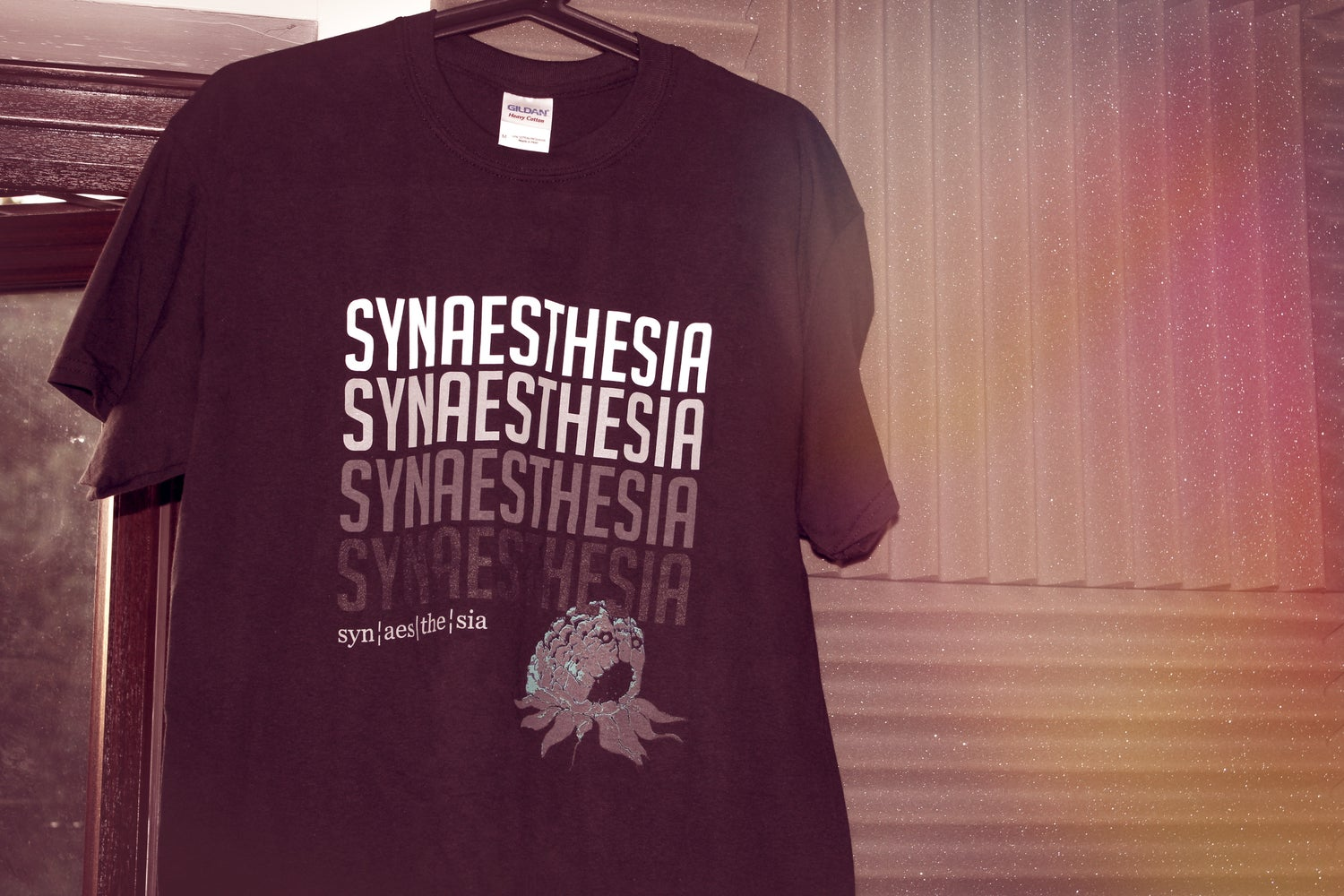 Image of Synaesthesia Block Font T-Shirt LIMITED EDITION