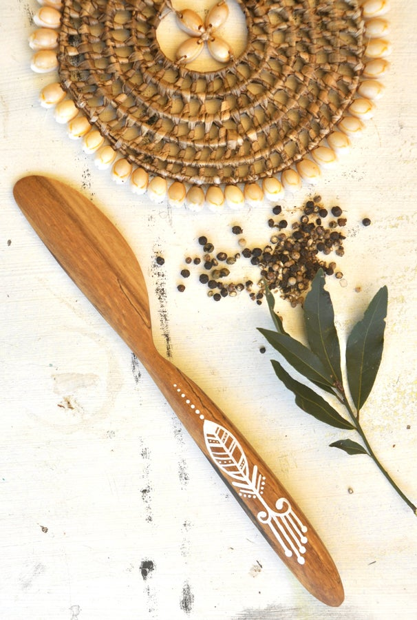 Image of #5   Reclaimed Spalted Brigalow Cake Icing Spreader/Large Butter Knife