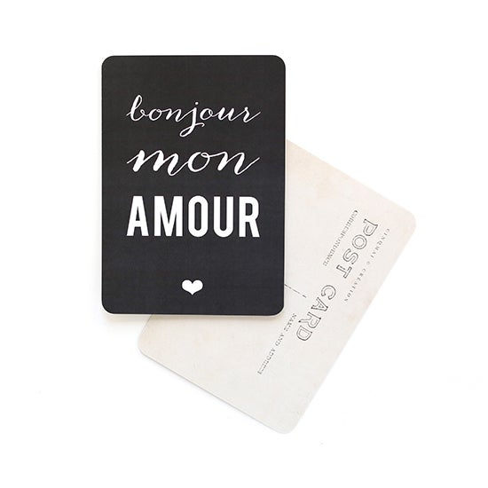 "Image of Carte Postale""BONJOUR MON AMOUR / ARDOISE"""