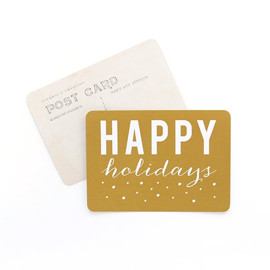 "Image of Carte Postale""HAPPY HOLIDAYS / ANNA / VIEIL OR"""