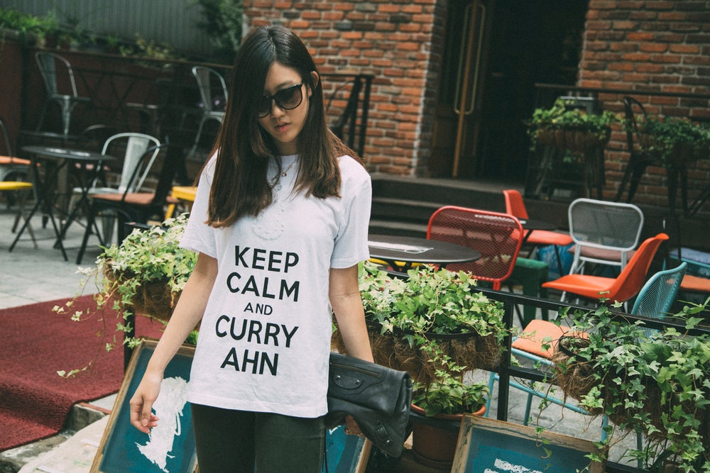 Image of Keep Calm and CurryAhn (White)