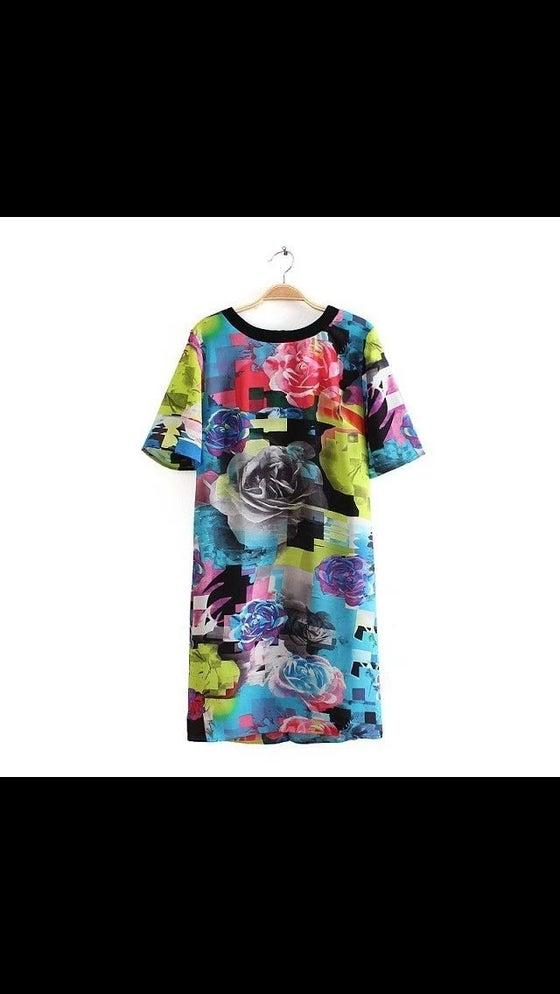 Image of Graffiti swing dress