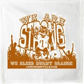 "Image of 18 x 25"" ""We ARE Strong"" towel in White"