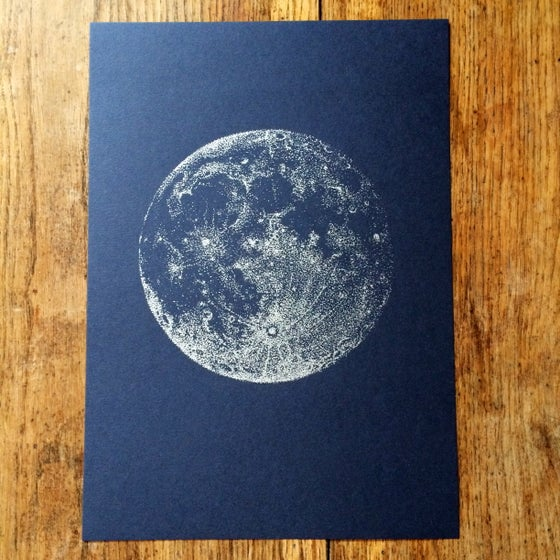 Image of Silver Full Moon - A4
