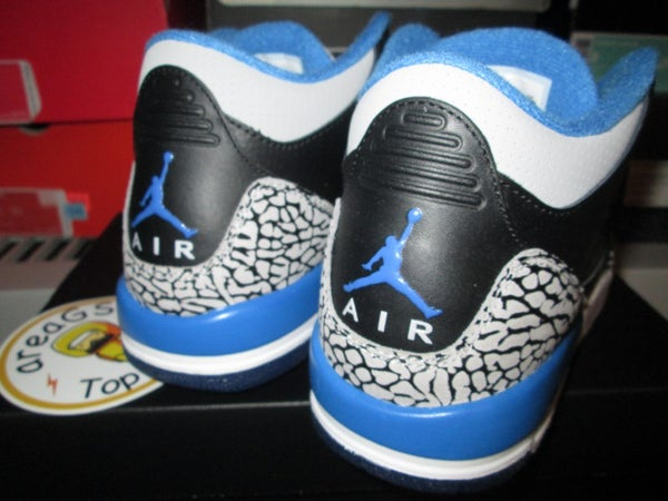 "Air Jordan III (3) Retro ""Sport Blue"" GS - areaGS - KIDS SIZE ONLY"