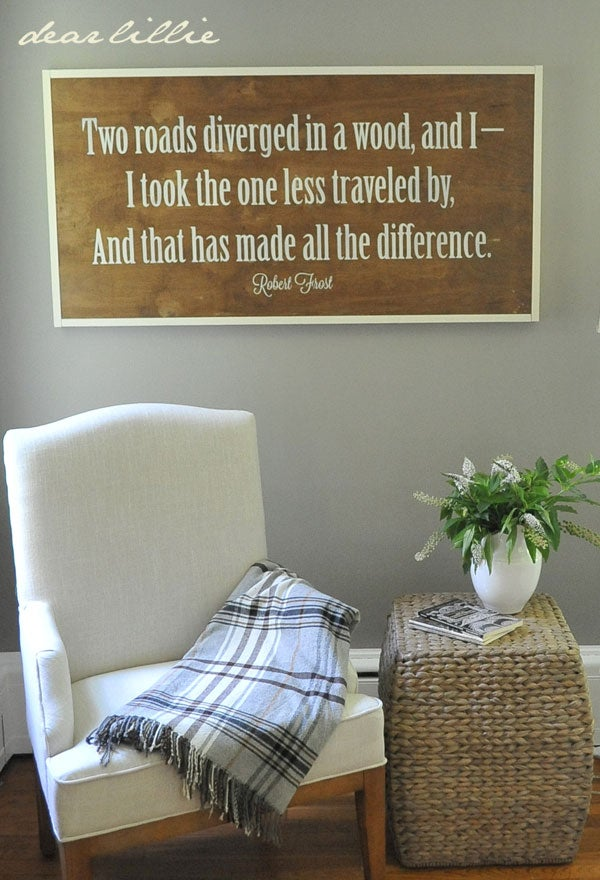 Image of Two Roads Handmade Oversized Wood Sign