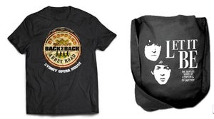 Image of COMBO! Beatles Back 2 Back T-Shirt and Let It Be Calico Tote Bag