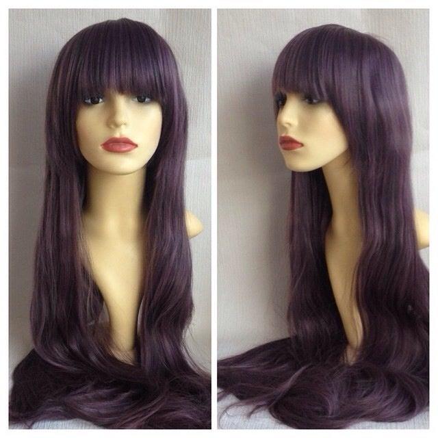 Image of Blackcurrant, Dark Purple Violet Long Gothic Lolita Cosplay Wig