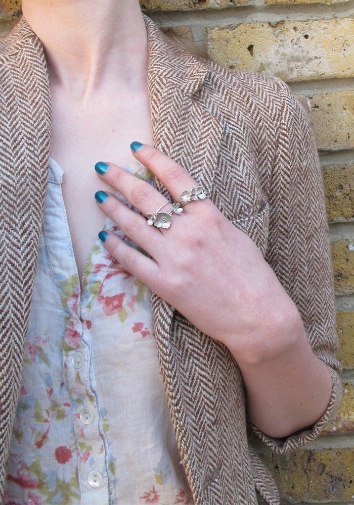 Image of Springtime Wildflower Primrose stacking ring
