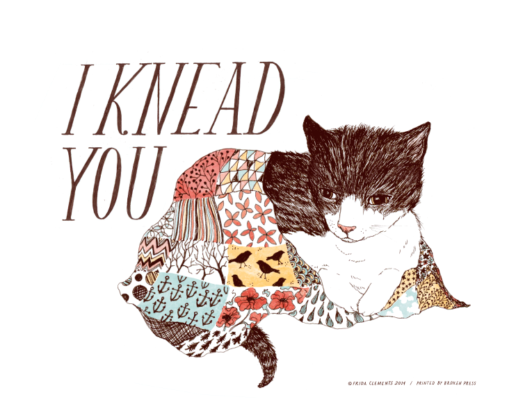 I Knead You / 8x10 Color Print / Frida Clements