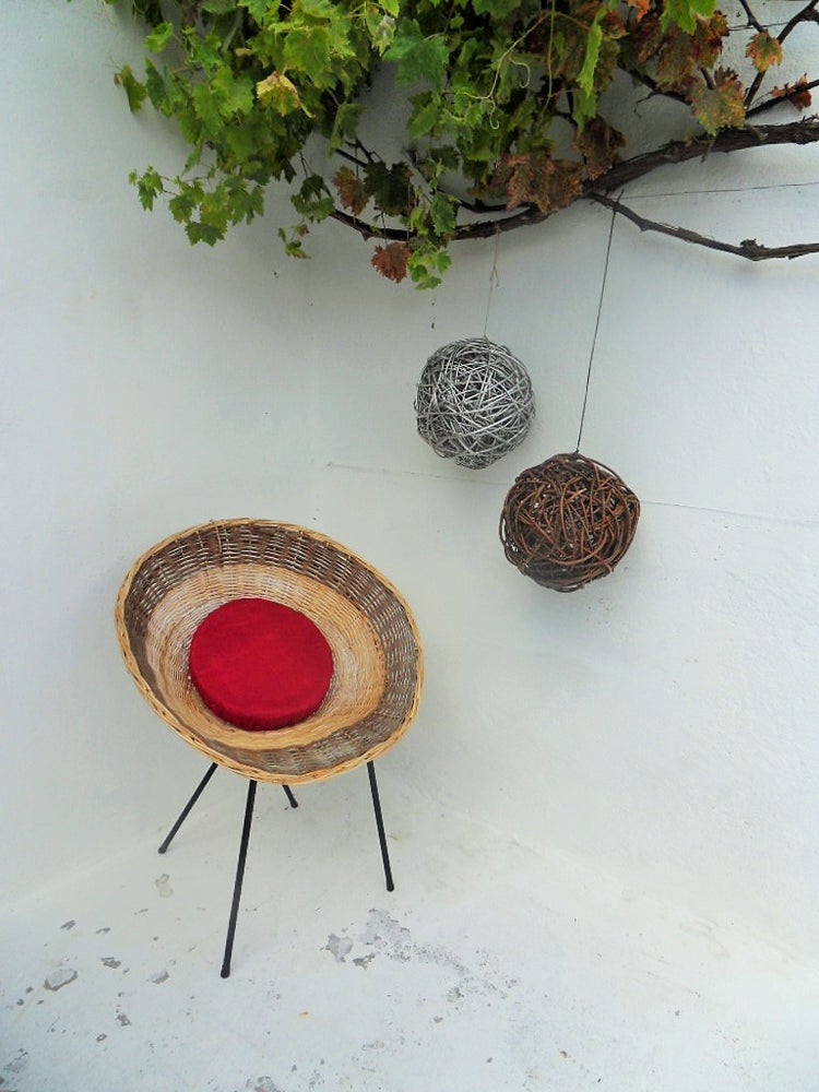 Image of boule osier - décorative