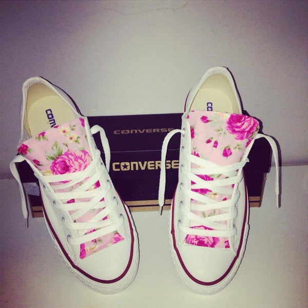 Image of Pink Floral Customised Converse