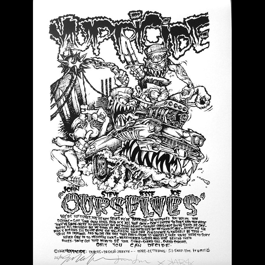 """Image of Yuppicide Ourselves Poster 18"""" x 24"""""""