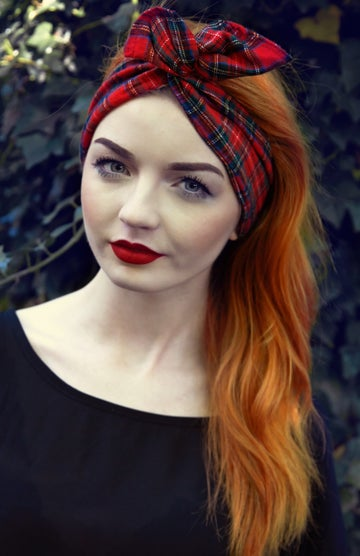 Image of Red Tartan Dolly Bow
