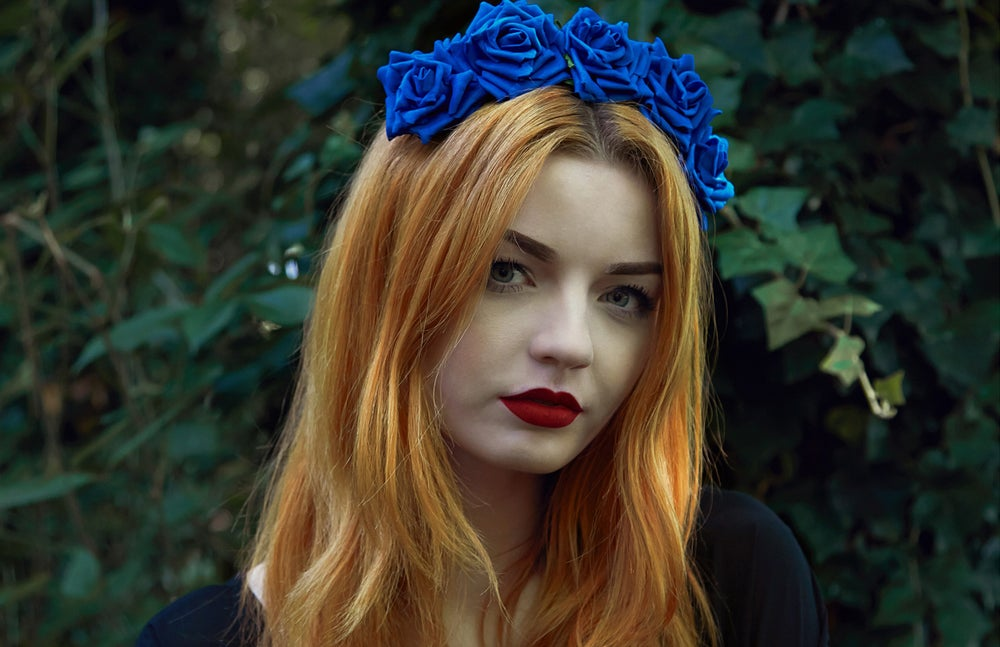 Image of Wild Rose Crown Cobalt