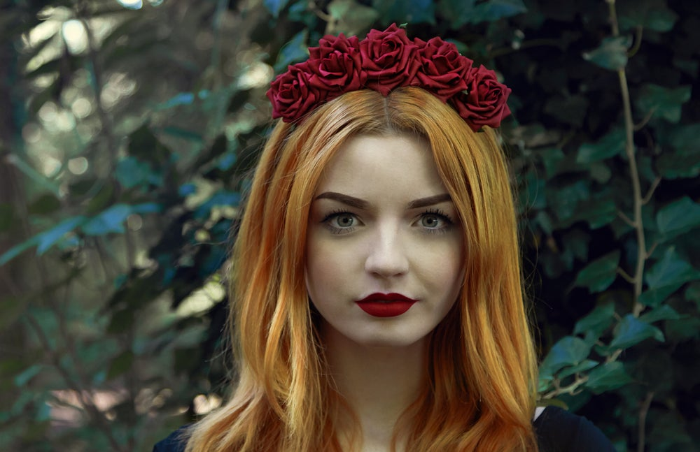 Image of Wild Rose Crown Burgundy
