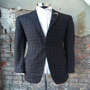 Image of Black Plaid Suit
