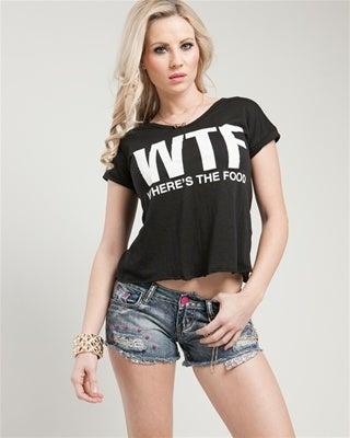 Image of WTF Print Slouchy Tee