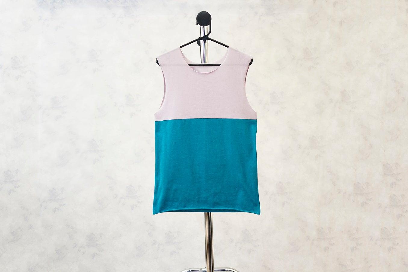 Image of Cool Colour Block Print Cotton Vest