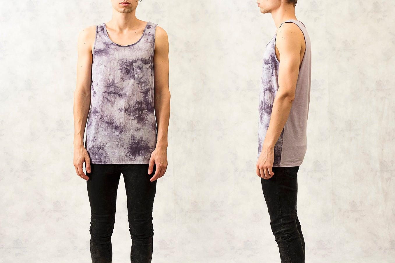 Image of Tie-Dye Cotton-Blend Vest