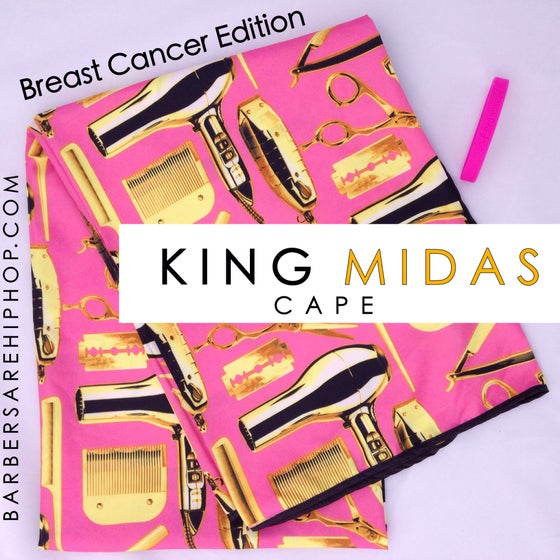 Image of King Midas Breast Cancer Cape & Wristband.