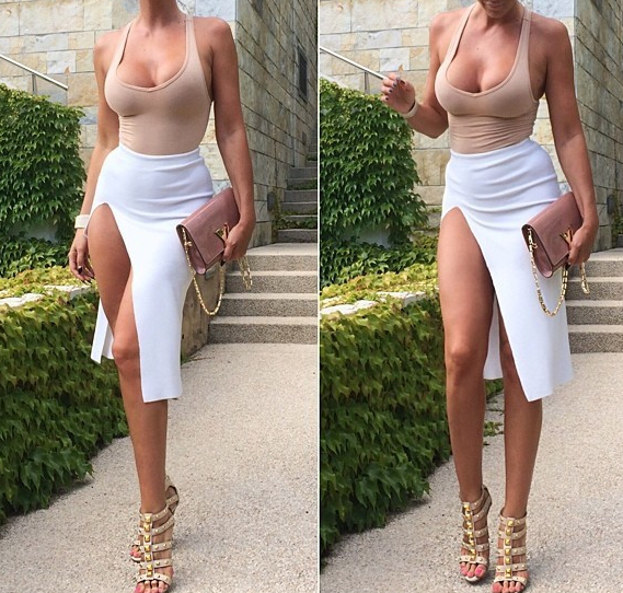 Image of Fashion hot cute sexy dress two piece