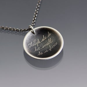 Image of Shakespeare Quote Necklace - Fierce