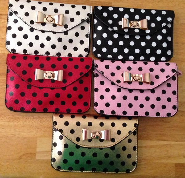 Image of Bow Polka Dot Purse