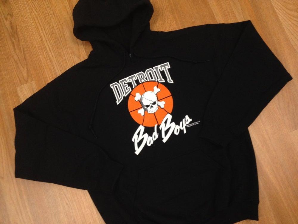 Image of Vintage Retro Detroit Pistons Bad Boys Hoodie Hooded Sweatshirt Jumper