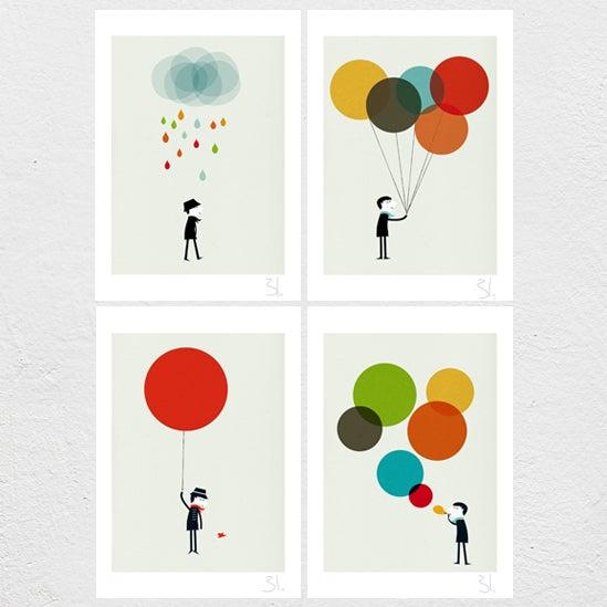 Image of Monsieur Set of four Prints