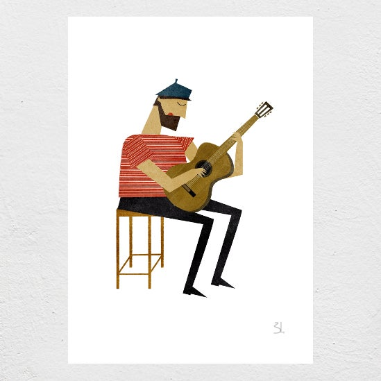 Image of Guitarist Print