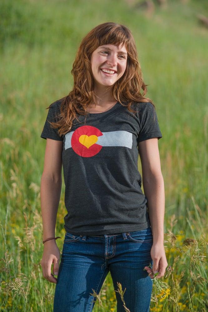 Image of Colorado Love T-shirt- Women's Tri-Black
