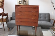 Image of 1960's danish teak chest / telephone table