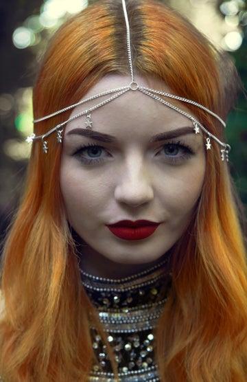 Image of Silver Stars Head Chain
