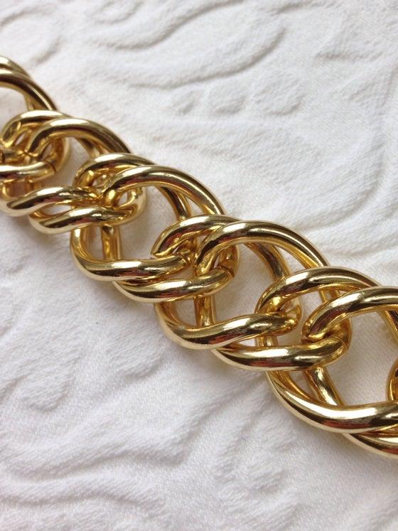 Image of Gold chunk link bracelet