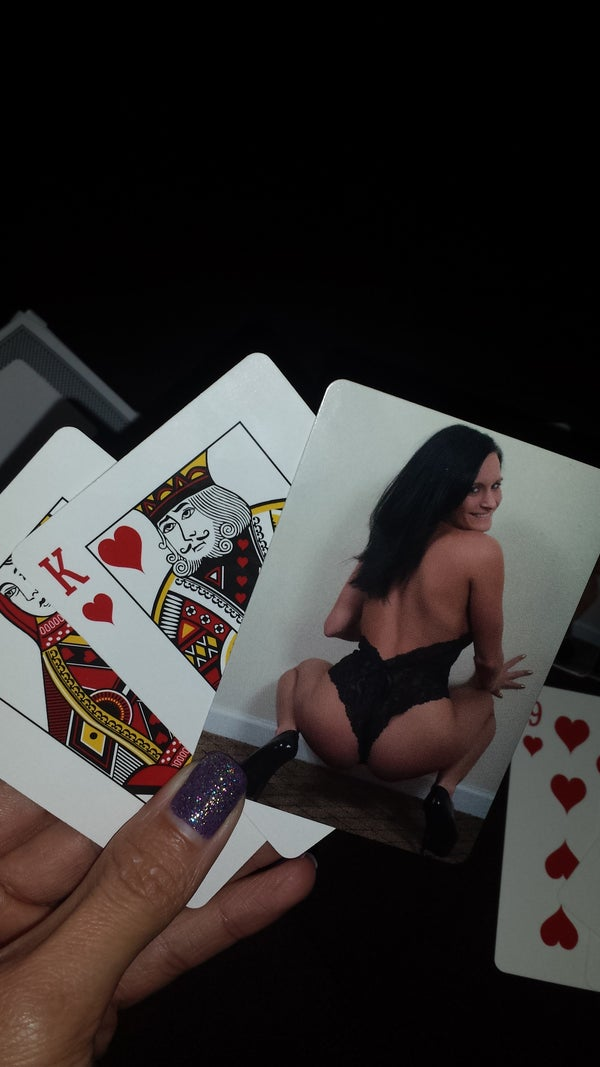 Image of Terrie jo playing cards