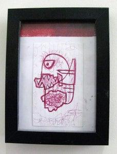 Image of  MJL Framed 'Red Harring' Drawing