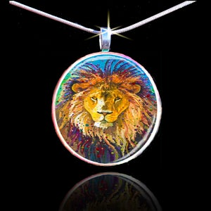 Image of Lion Heart Energy Pendant