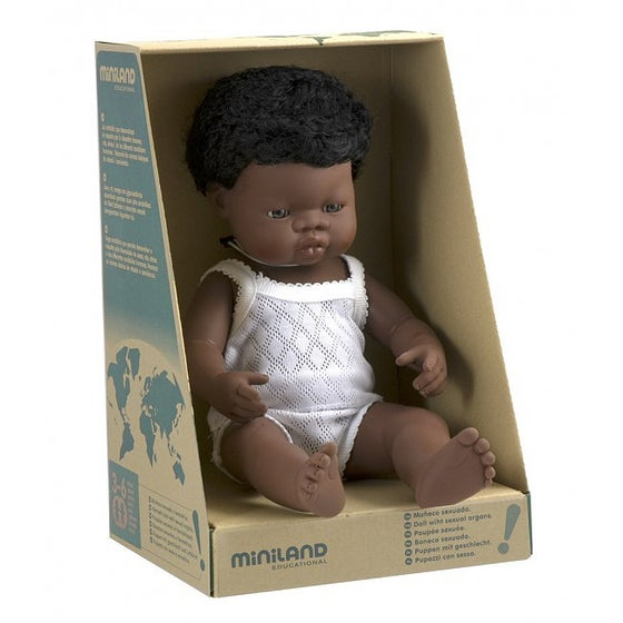 Image of Miniland Doll - African Boy