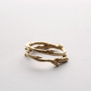 Image of 9ct gold Twig ring