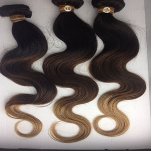 Image of NEW Brown Ombre Body Wave Hair