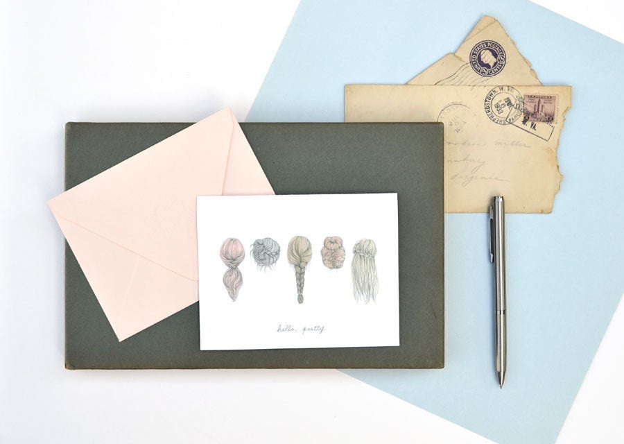 Image of Hello Pretty note card