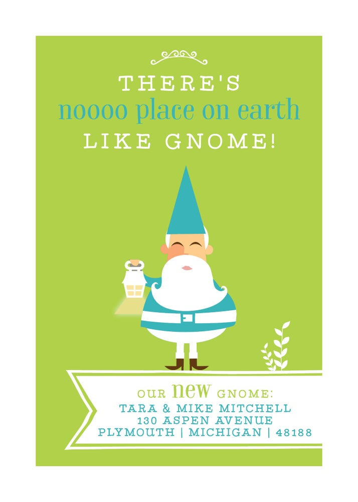 Image of New home - there's no place on earth like home/gnome