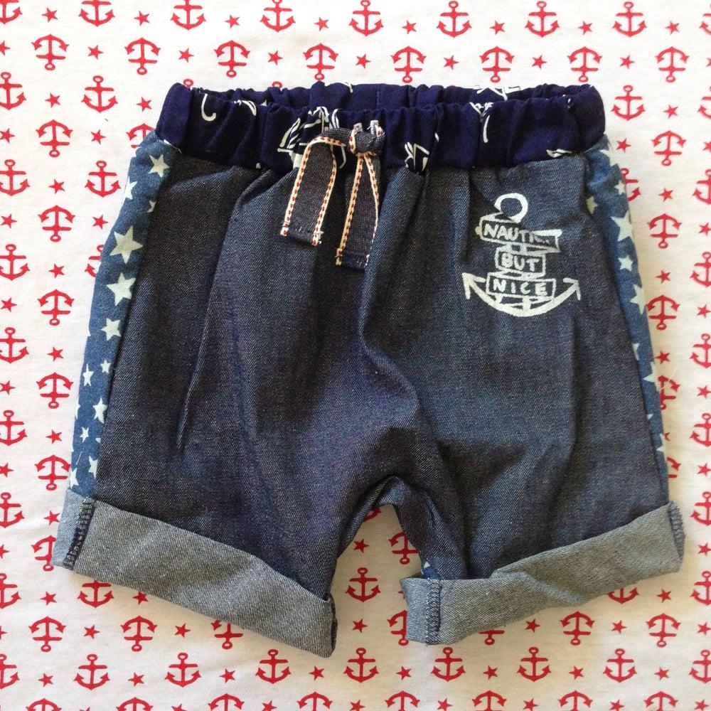Image of Hello sailor boy shorts size 3