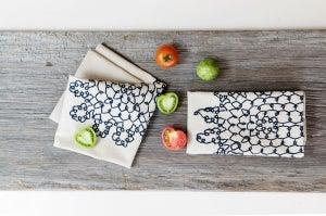 Image of doily print napkins