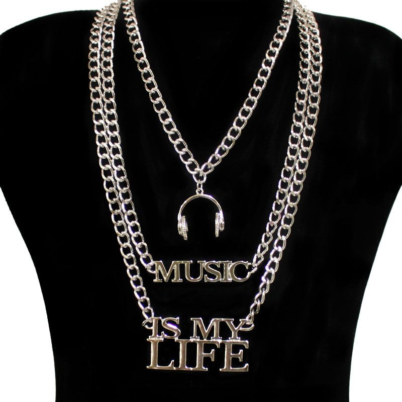 Image of MUSIC IS MY LIFE CHAIN NECKLACE