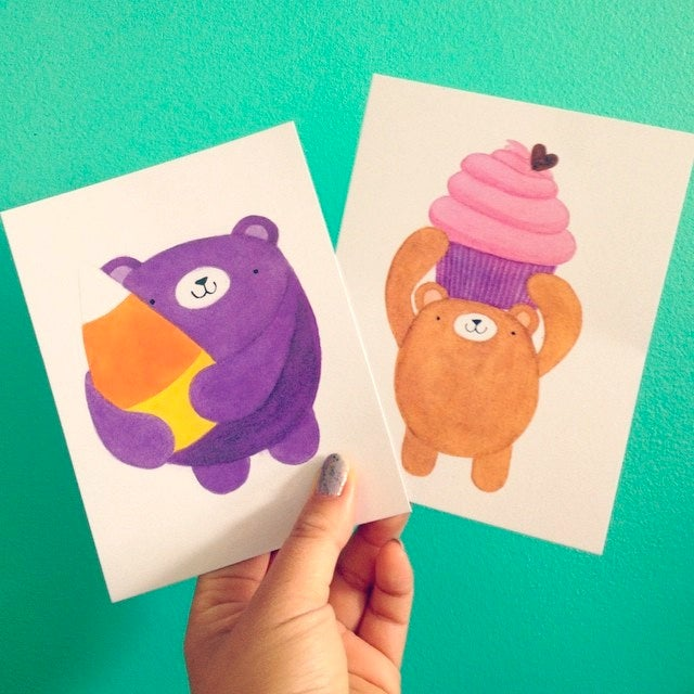Image of sweet treat pudgy bear postcards