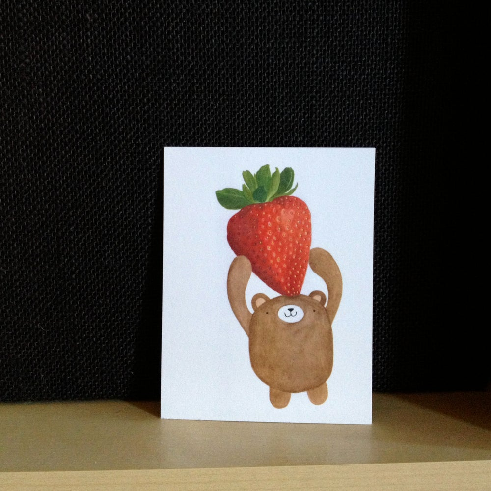 Image of strawbeary postcards + prints